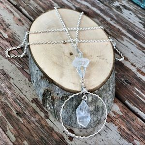 Floating Quartz Crystal Necklace